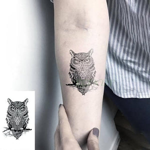Waterproof Temporary Tattoo Stickers Wolf And Other Animals - Geometric Flash Tattoo For Woman and Men