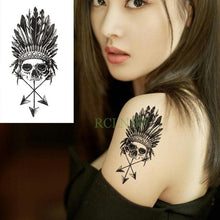 Load image into Gallery viewer, Waterproof Temporary Tattoo Stickers Wolf And Other Animals - Geometric Flash Tattoo For Woman and Men