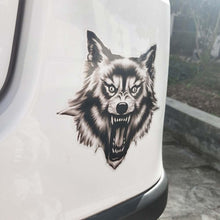 Load image into Gallery viewer, PVC Wolf Car Sticker - Ferocious Wolf - 13.5CM*13.2CM