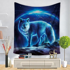 Wolf Painting Fashion Curtain - Home Decoration