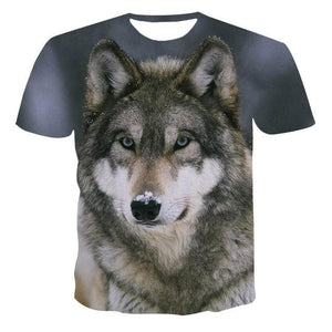 2020 Summer NewFunny 3d (Wolf Style And Other Cartoon Designs) - T-Shirts Short sleeve tops