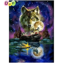Load image into Gallery viewer, Wolf Painting Star Sky 5D - Diamond Mosaic Art