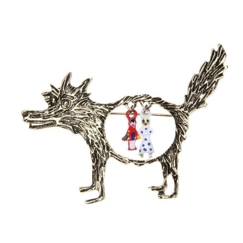 Fashion Women WOLF Brooches - Christmas Gift