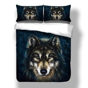 3D Wolf Animal Print Bedding Set - For Children, Kid And Adults
