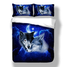 Load image into Gallery viewer, 3D Wolf Animal Print Bedding Set - For Children, Kid And Adults