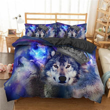Load image into Gallery viewer, Multicolor 3D Wolf Bedding Sets Twin Full (Also Lion Style 3D) - Beautiful Gift!
