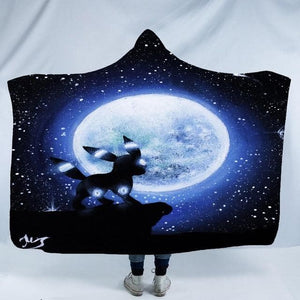 Wolf Hooded Blanket for Adult kids - Microfiber Bedding soft