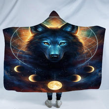 Load image into Gallery viewer, Wolf Hooded Blanket for Adult kids - Microfiber Bedding soft