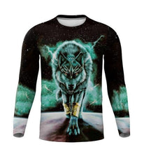 Load image into Gallery viewer, 2020 New Autumn Wolf T-shirt Casual 3D T - Long Sleeve - Wide choice of designs