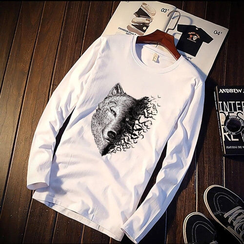 Fashion Shirt Wolf Head - 100% Cotton - Unisex