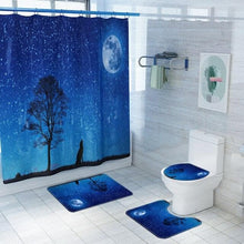 Load image into Gallery viewer, Starry Sky Forest Wolf Bathroom Curtain + Set Bath Toilet