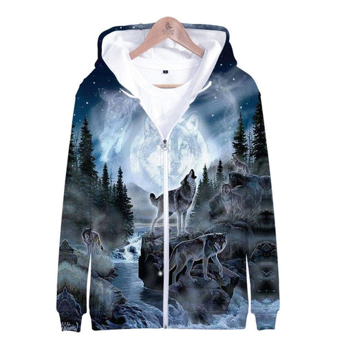 Wolf Hoodies 2020 - Various Design - Women/Men Fashion Long Sleeve Hooded Sweatshirt 2020