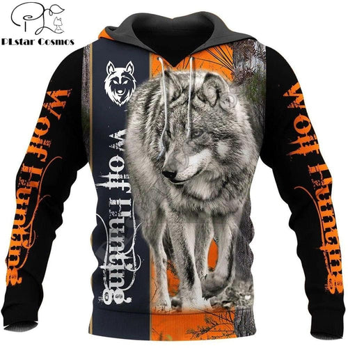 Beautiful Orange And Black Wolf Hoodie And Sweatshirt