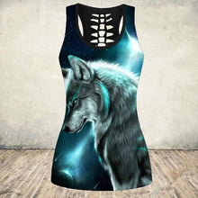 Load image into Gallery viewer, New Plus Size 5XL Sleeveless Wolf Tank Tops Women