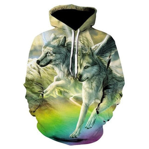 Wolf Hooded Sweatshirts/Hoodies Female Male 2020 - Autumn/Winter Pullover - Wide choice of styles and sizes