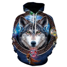 Load image into Gallery viewer, Wolf Hooded Sweatshirts/Hoodies Female Male 2020 - Autumn/Winter Pullover - Wide choice of styles and sizes
