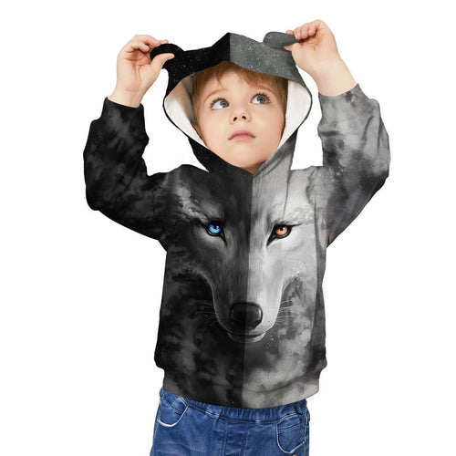 Kids Sweaters 2020 New Autumn Winter Boys/Girls - 3D Wolf Style - Cotton 100%