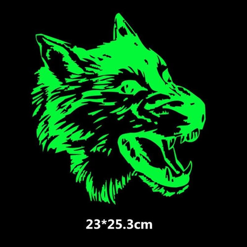 Luminous Fierce Wolf Stickers For Clothes - Wolf Fashion Style!