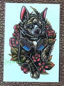 Waterproof Temporary Tattoo Sticker large size dreamcatcher wolves wolf tatto stickers - New Wolves - unique & trendy stuff