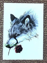 Load image into Gallery viewer, Waterproof Temporary Tattoo Sticker large size dreamcatcher wolves wolf tatto stickers - New Wolves - unique & trendy stuff
