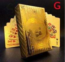 Load image into Gallery viewer, Luxury 24K Gold Foil Poker Playing Cards ( Buy 2 free shipping )