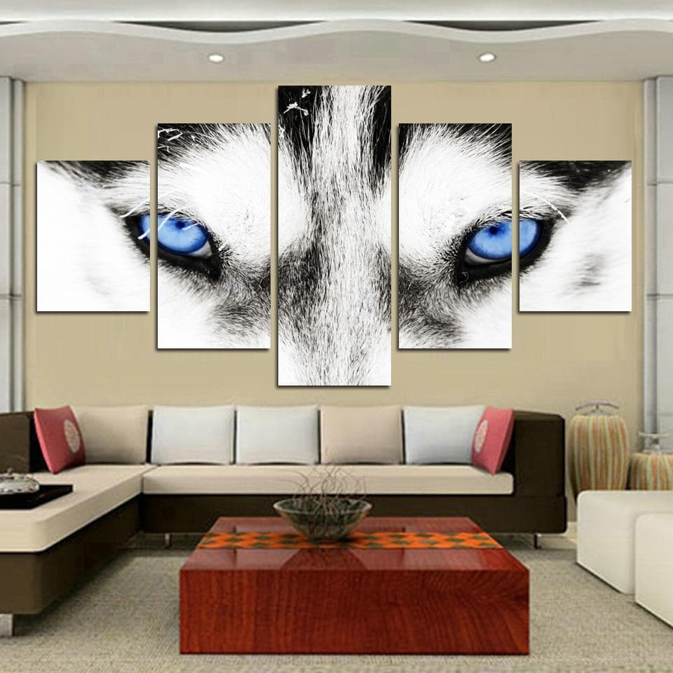 Wolf Eyes Group Canvas 5pcs - New Wolves - unique & trendy stuff