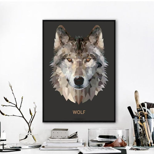 Modern Wolf Art Wall Picture - New Wolves - unique & trendy stuff