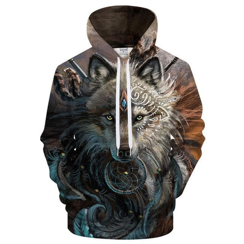 The black Wolf Hoodie - New Wolves - unique & trendy stuff
