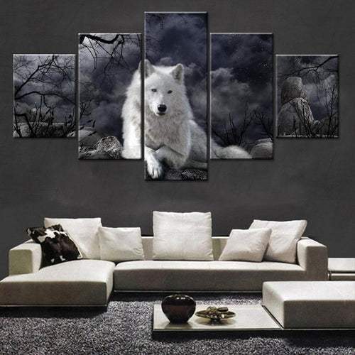 Loner White Wolf Canvas - New Wolves - unique & trendy stuff