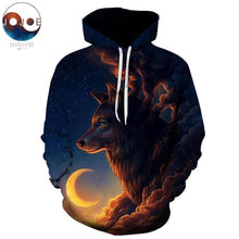 Load image into Gallery viewer, Night Guardian Hoodie - New Wolves - unique & trendy stuff