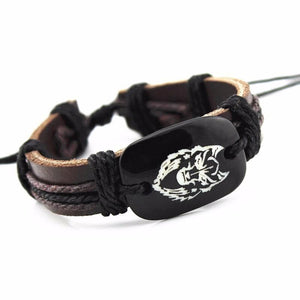 wolf head leather bracelet - New Wolves - unique & trendy stuff