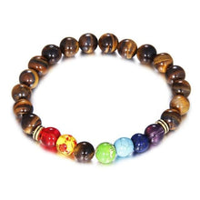Load image into Gallery viewer, 7 Chakra Reiki Healing Heart Bracelet