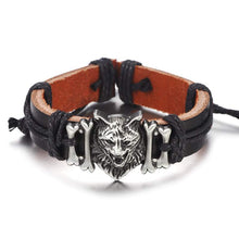 Load image into Gallery viewer, Wolf  Leather Bracelet - New Wolves - unique & trendy stuff