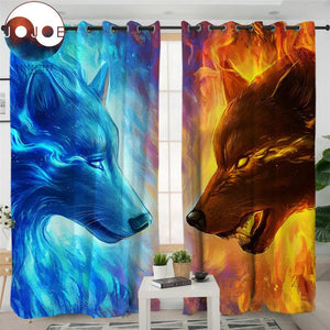 Fire and Ice by JoJoesArt Curtain - New Wolves - unique & trendy stuff