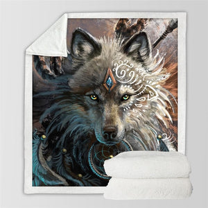 The Warrior Wolf Blanket - New Wolves - unique & trendy stuff