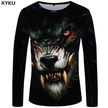 Load image into Gallery viewer, Wolf Shirt Men Long Sleeve Gothic Beautiful Style - Wide choice of designs