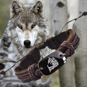 wolf Leather Bracelet - New Wolves - unique & trendy stuff