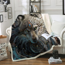 Load image into Gallery viewer, The Warrior Wolf Blanket - New Wolves - unique & trendy stuff
