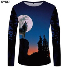 Load image into Gallery viewer, KYKU Wolf Shirt Men Long Sleeve - Wide choice of designs
