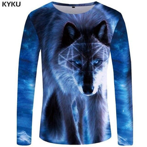 KYKU Wolf Shirt Men Long Sleeve - Wide choice of designs