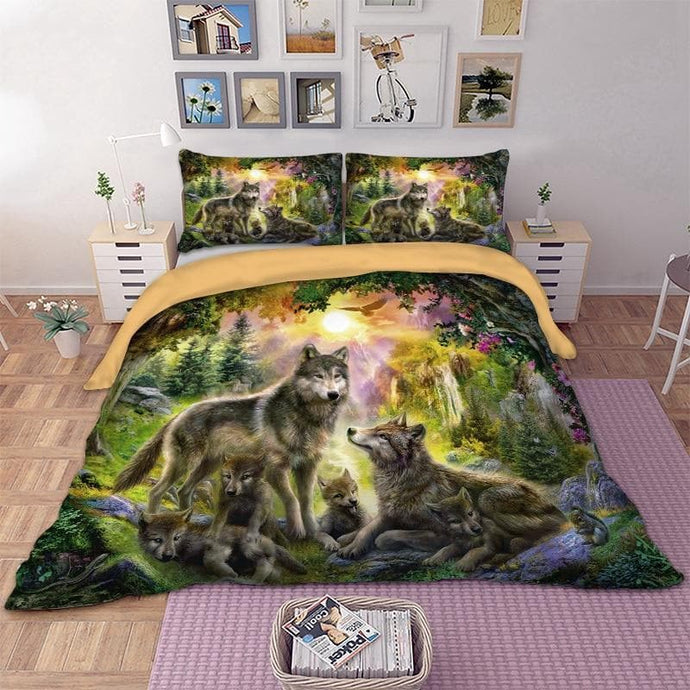 Wolf Family Bedding Set - New Wolves - unique & trendy stuff