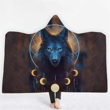 Load image into Gallery viewer, 3D Animal Printed Wolf Hooded Blanket - New Wolves - unique & trendy stuff