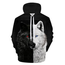 Load image into Gallery viewer, black and white Lovers Wolves - New Wolves - unique & trendy stuff
