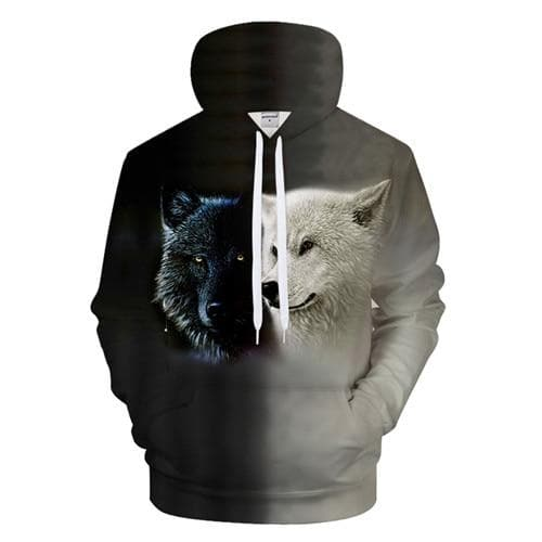 black and white Lovers Wolves - New Wolves - unique & trendy stuff