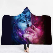 Load image into Gallery viewer, 3D Wolf Throw Blanket - New Wolves - unique & trendy stuff