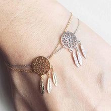 Load image into Gallery viewer, New Fashion Gold Silver Color Dreamcatcher Bracelet - New Wolves - unique & trendy stuff