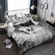 Load image into Gallery viewer, Wolves Bedding Set - New Wolves - unique & trendy stuff