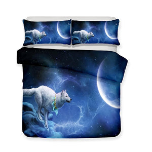 3D Wolf Bedding Set - New Wolves - unique & trendy stuff