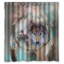 Load image into Gallery viewer, Wolf Dream catcher Curtain - New Wolves - unique & trendy stuff