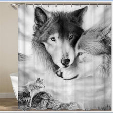 Load image into Gallery viewer, Wolf Shower Curtain - New Wolves - unique & trendy stuff